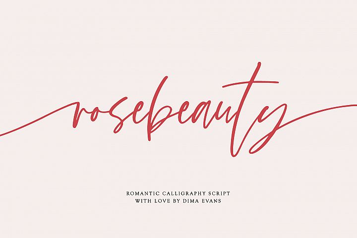 Rosebeauty I Font with Swashes