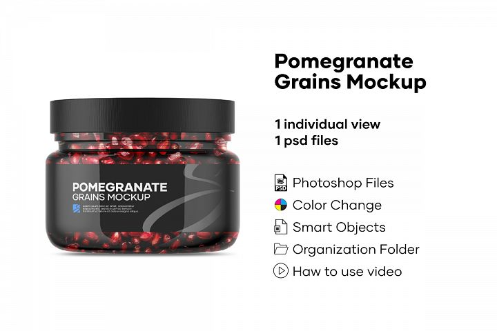 Pomegranate Grains Mockup