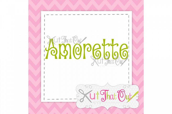 EXCLUSIVE Amorette Font SVG & DXF Cut File