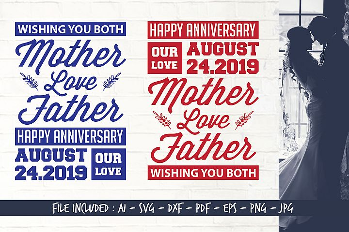 Digital Cutting Files_SVG_Happy Anniversary