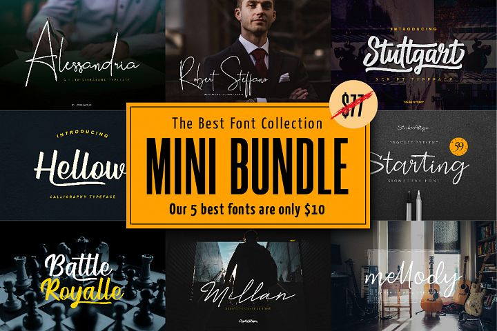 Mini Bundle | The Best Signature Calligraphy Font