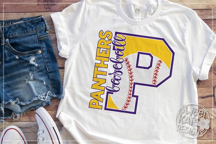P Panthers Baseball SVG DXF EPS PNG JPG