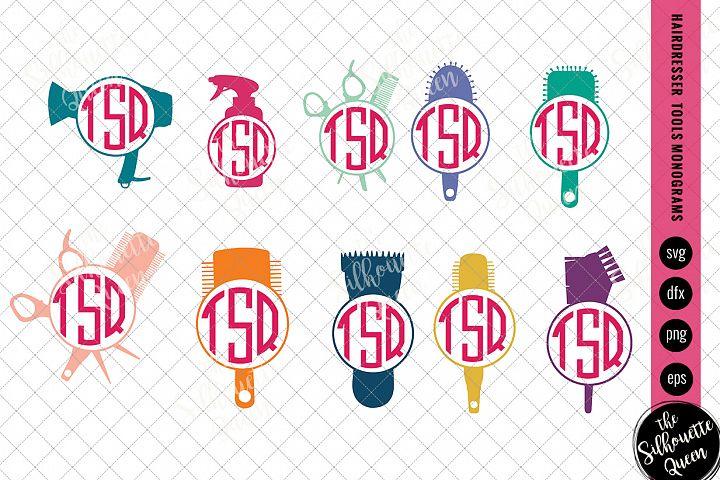 Hairdresser Tools Svg,Hairdresser Tools Monogram Svg,Hairdre