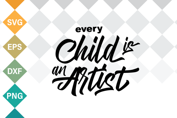 Every child is an artist SVG