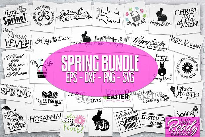 Easter Spring Bundle - 30 designs - Vector Clip Art Files