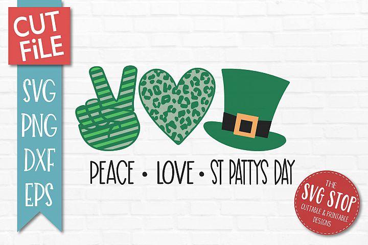 Peace Love St Patricks Day SVG, PNG, DXF, EPS