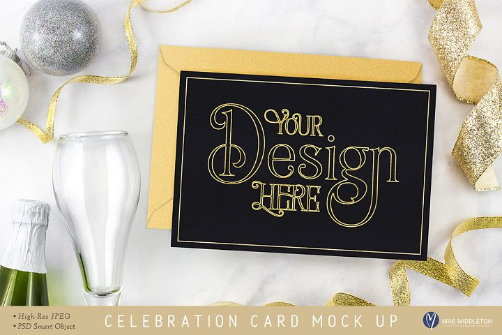 Holiday Celebration Card / Stationery Mock Up