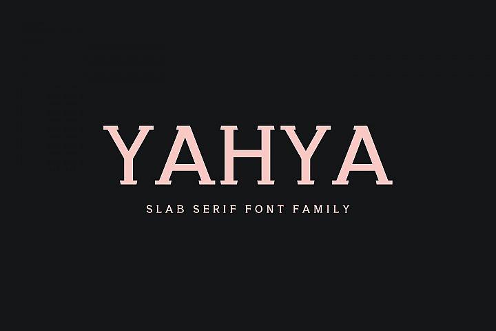 Yahya Slab Serif Font Family