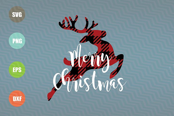 Merry Christmas Reindeer SVG