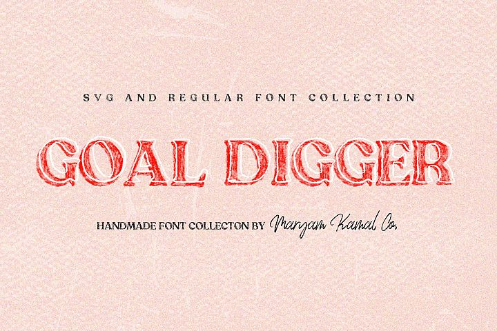 Goal Digger Font Collection
