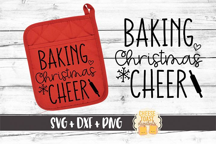 Baking Christmas Cheer - Oven Mitt SVG PNG DXF File