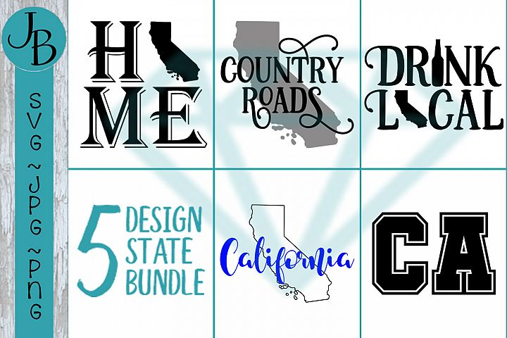 California State Pride Bundle, CA SVG Bundle