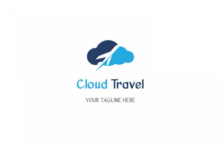 Travel Cloud Shape Logo