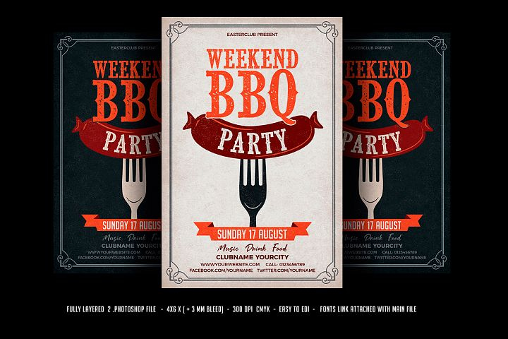Weekend BBQ / BBQ Party Flyer