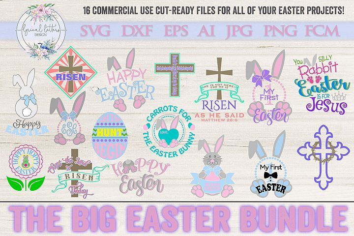 NEW! The Big Easter Bundle of 16 SVG DXF FCM Cut Files
