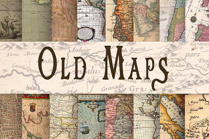 Old Maps Digital Paper - Free Design of The Week Font