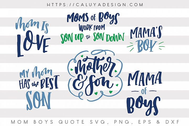 Mom & Son SVG Cut File Bundle
