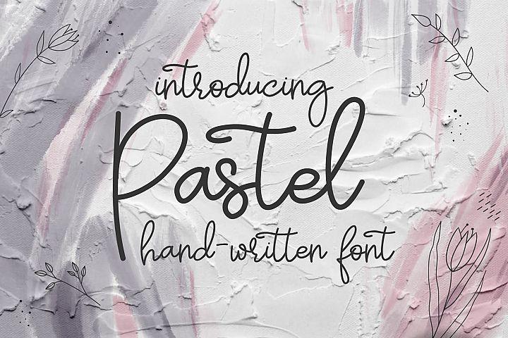 Pastel   hand-written font
