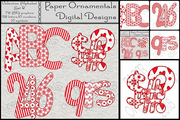 Clip Art, Valentine Red & Tan Alphabet Set 2