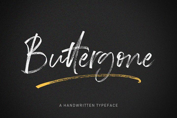 Buttergone Brush Font