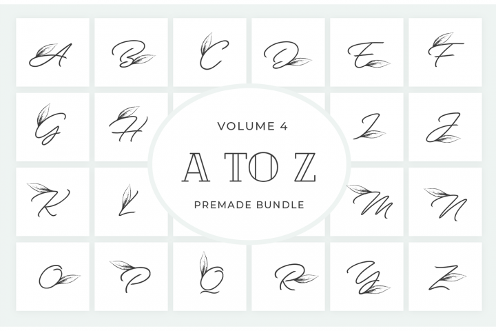 Vol.4 Alphabets Logo Templates