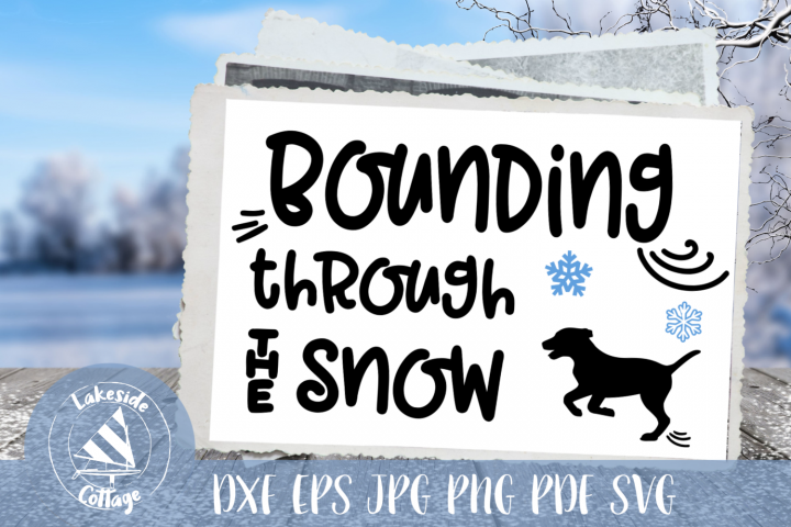 Bounding Through the Snow Christmas Puppy Dog SVG Design