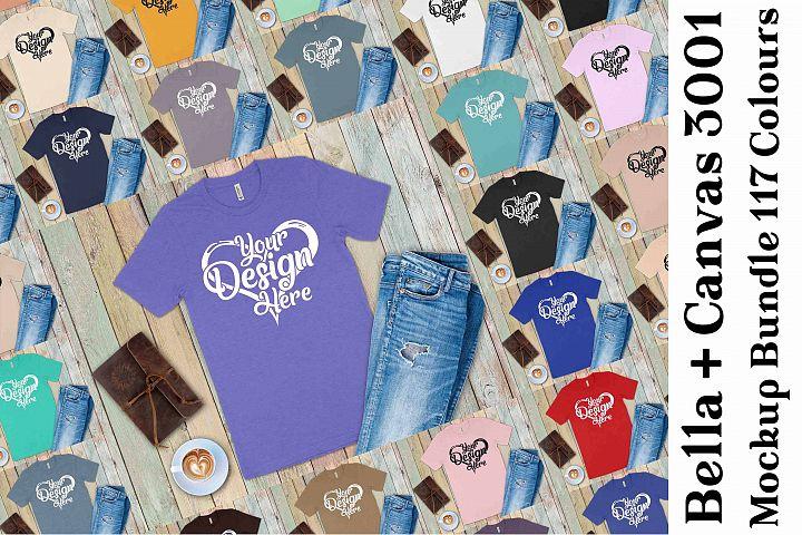 Bella Canvas 3001 Mockup Bundle T-Shirt Mock Ups 135