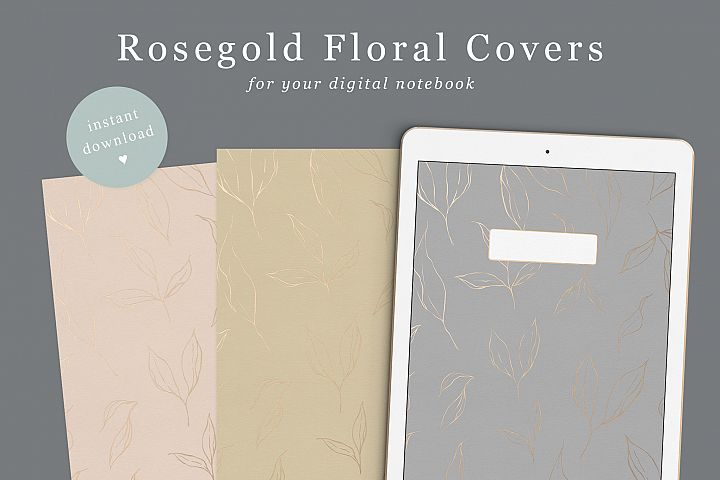 Goodnotes Digital Notebook Covers Floral