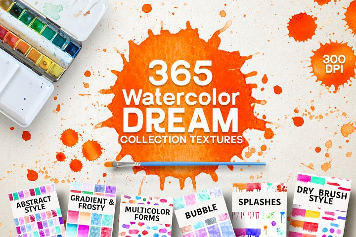 365 Watercolor Dream Textures