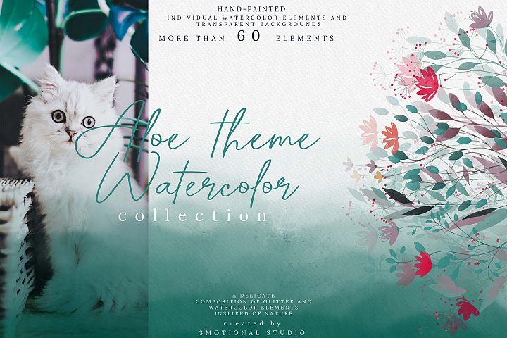 Aloe theme Watercolor Collection