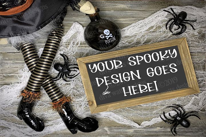 Mock-Up Halloween Styled Photography for Digital Displays