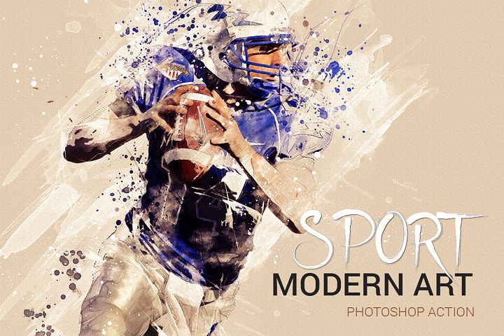 Sports Modern Art Photoshop Action
