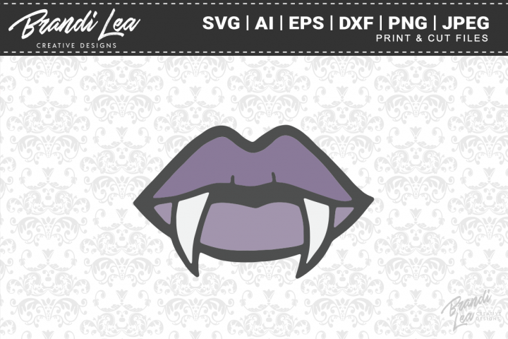 Vampire Lips SVG Cutting Files