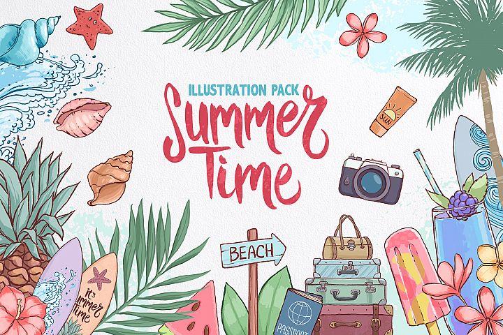 Summer time. Illustration pack.
