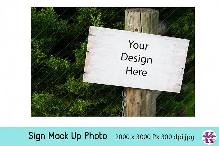 Sign on Post Mock UP jpg