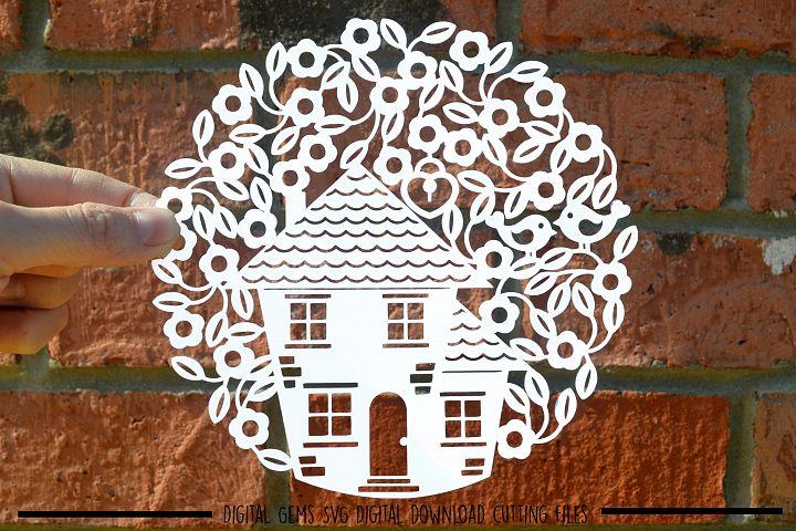 Housewarming paper cut SVG / DXF / EPS files