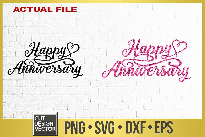Happy Anniversary SVG, Happy Anniversary Cake Topper