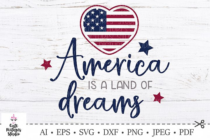 4th of July SVG Cut file. USA Independence Day. America svg