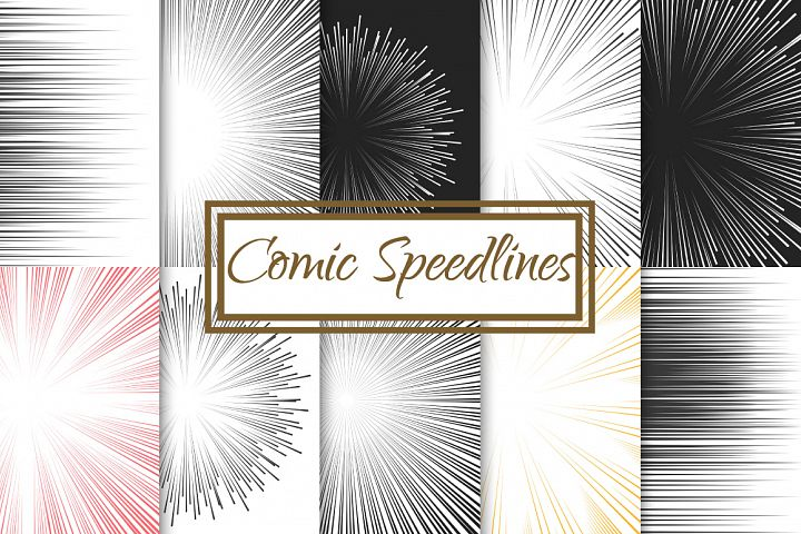 Comic Speed Line backgrounds
