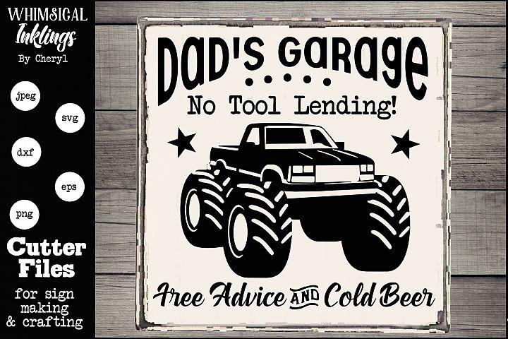 Dads Garage-Monster Truck-SVG