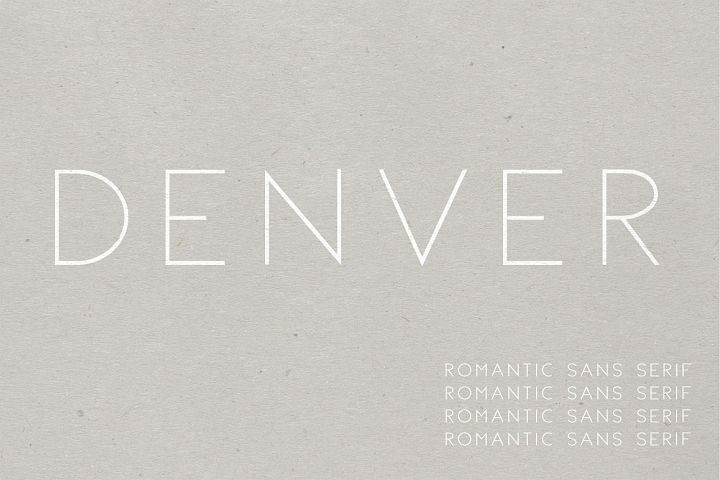 Denver   A Romantic Sans Serif