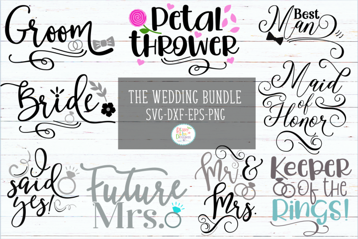 Wedding Bundle Wedding SVG Bundle Engagement SVG Bundle