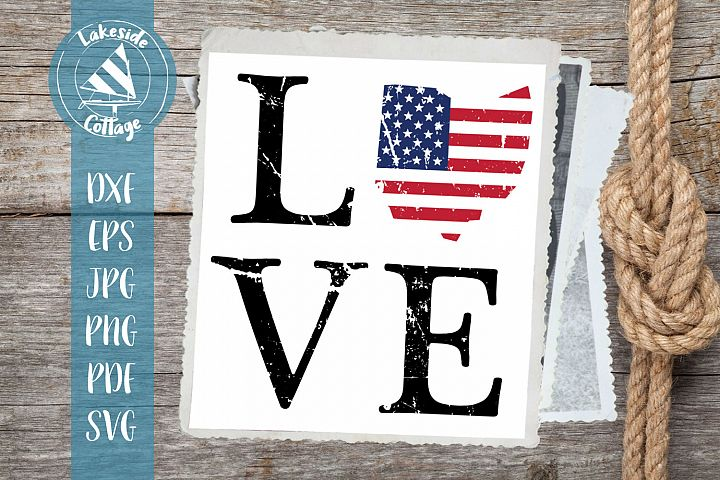 LOVE Ohio - 4th of july svg - memorial day svg dxf eps
