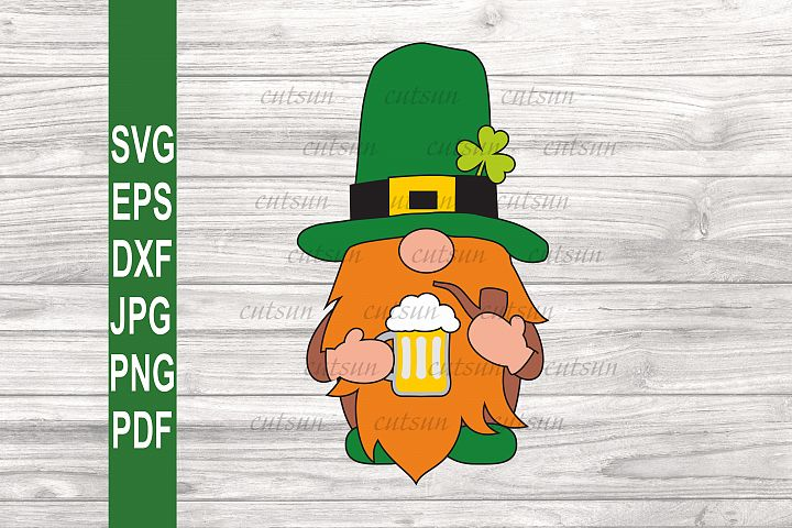 Gnome with a Beer SVG | Gnome with a pipe SVG