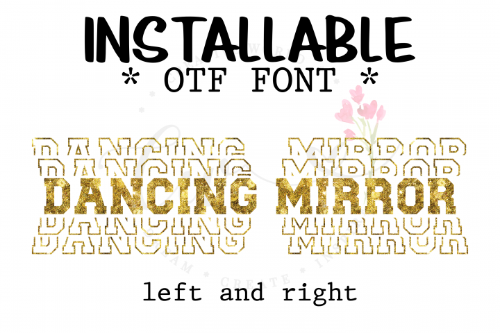 Dancing Mirror Sports Font | Stacked Sport Font |Installable
