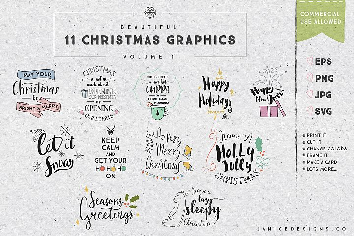11 Christmas Graphics Vol. 1