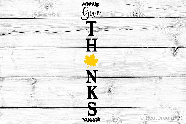 Give Thanks Porch Sign SVG, DXF, PNG, EPS