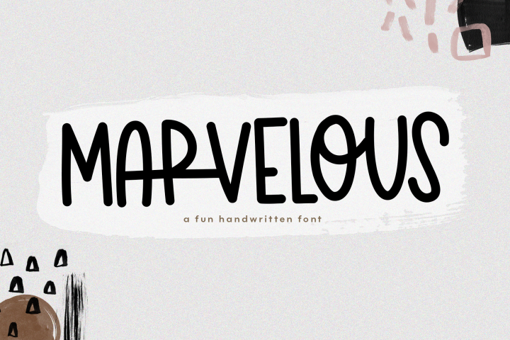 Marvelous - A Fun & Quirky Handwritten Font