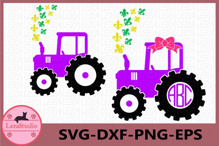 Farm Tractor fleur de lis Svg, Mardi Gras Svg, Farm Tractor