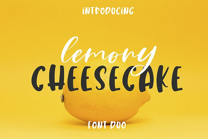 Lemony Cheesecake Font Duo example image 1